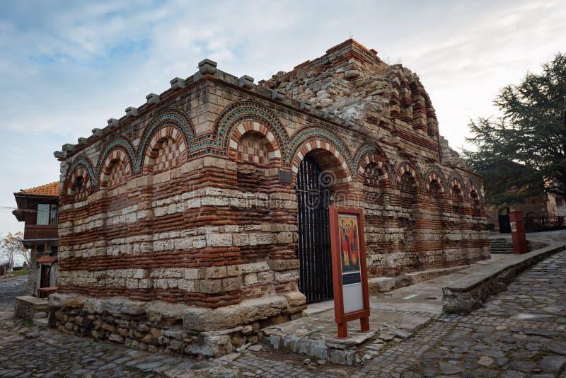 NESEBAR BUŁGARIA, Luty, - 05, 2017: Kościół Święci archaniołowie Michael i Gabriel obrazy stock