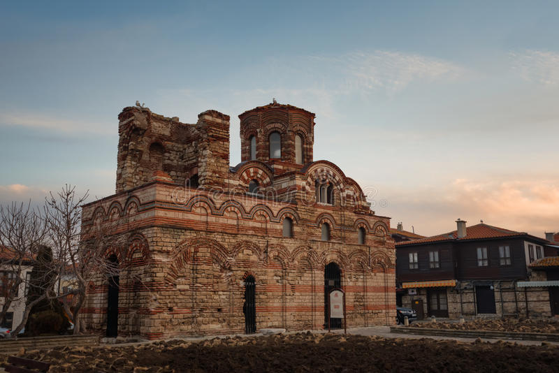 NESEBAR, BULGARIA - February 05, 2017: The Church of Christ Pantocrator. stock images