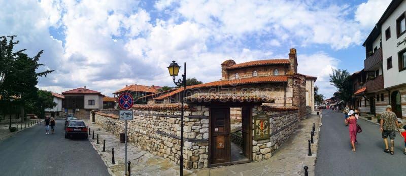 Nesebar-Stadt in Bulgarien stockfotos