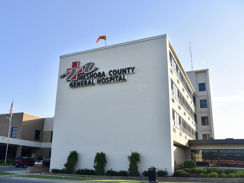 Neshoba County Allgemeinkrankenhaus, Philadelphia, Mitgliedstaat lizenzfreie stockbilder