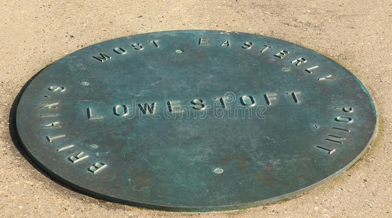 Ness Point. Also known as Lowestoft Ness, is the most easterly point of England, the United Kingdom and the British Isles. It is located in Lowestoft in the stock photos
