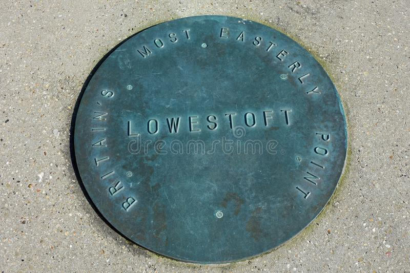 Ness Point, Lowestoft, Suffolk, Angleterre, R-U photo libre de droits