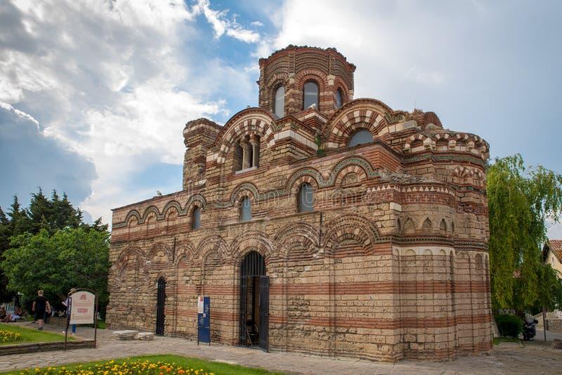 Nessebar,保加利亚 教会基督Pantokrator 免版税库存图片
