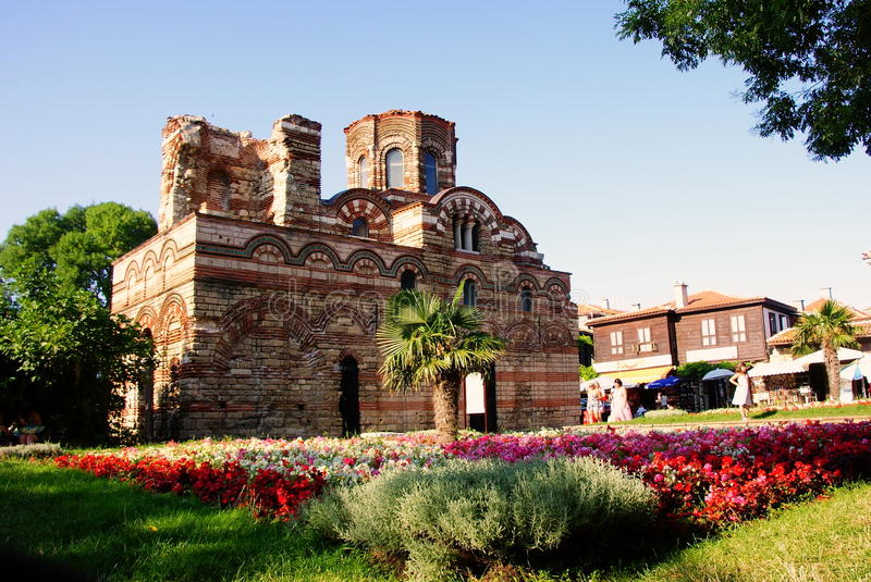 Nessebar Bulgaria, Black sea coast. Church of Christ Pantokrator stock photography