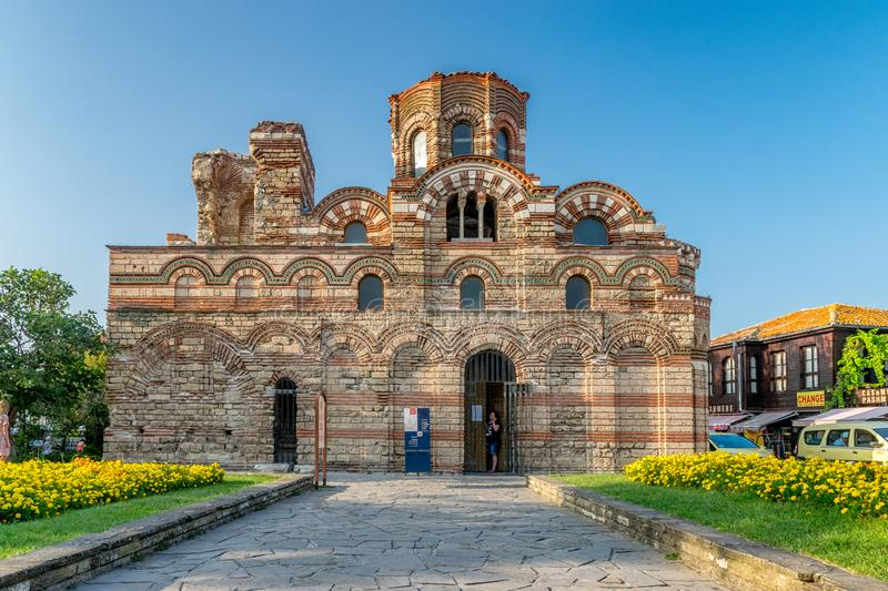 Nessebar, Bulgaria - 2 Sep 2018: Church of Christ Pantocrator in Nessebar, one of the major seaside resorts on the Bulgarian Black royalty free stock images