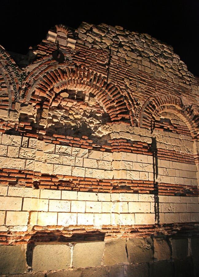 Nessebar at night, Bulgaria stock images