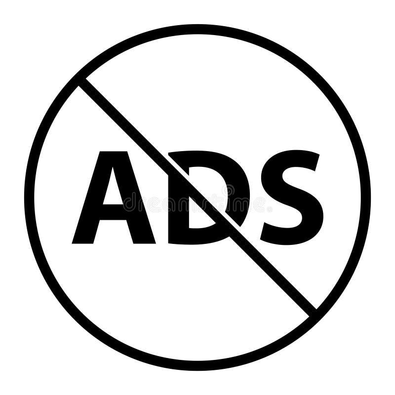Nessun ADS, illustrazione di vettore royalty illustrazione gratis