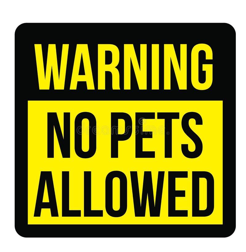 Nessun animali domestici conceduti segno royalty illustrazione gratis