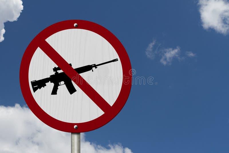 Nessun armi da fuoco concedute segno fotografia stock libera da diritti