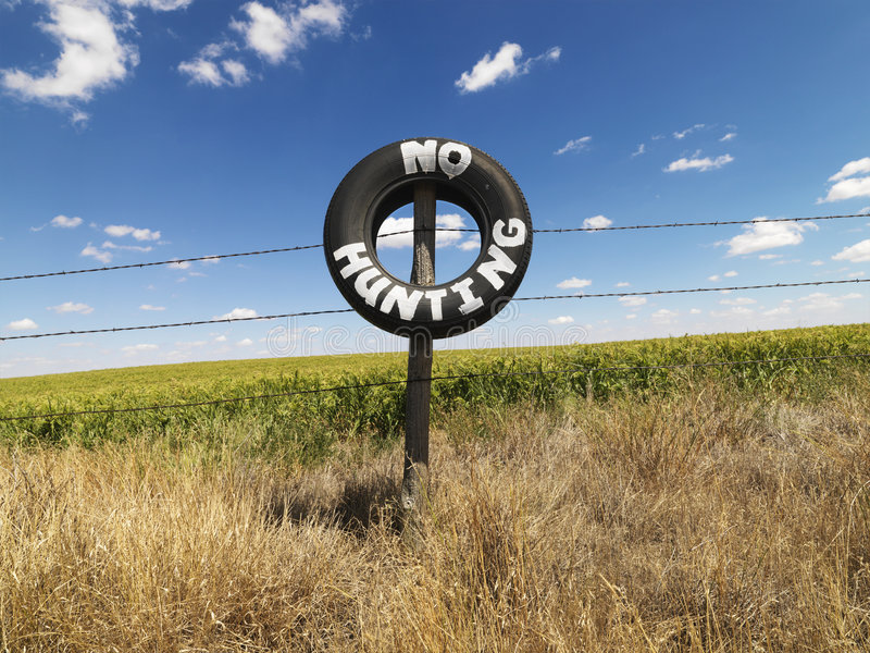 Nessun avviso di caccia. immagine stock libera da diritti