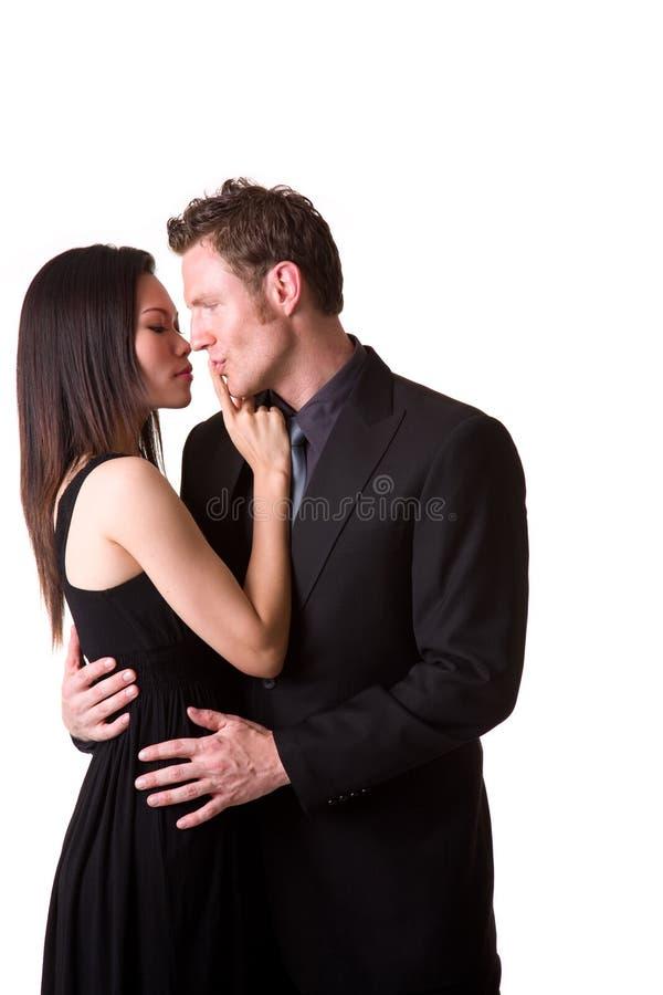 Nessun baciare immagine stock