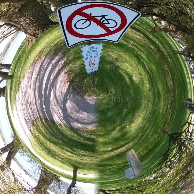 Nessun bici poco pianeta immagini stock libere da diritti