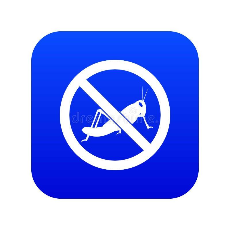 Nessun blu digitale dell'icona del segno della locusta illustrazione vettoriale