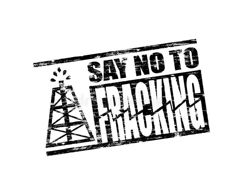 Nessun bollo di Fracking illustrazione di stock