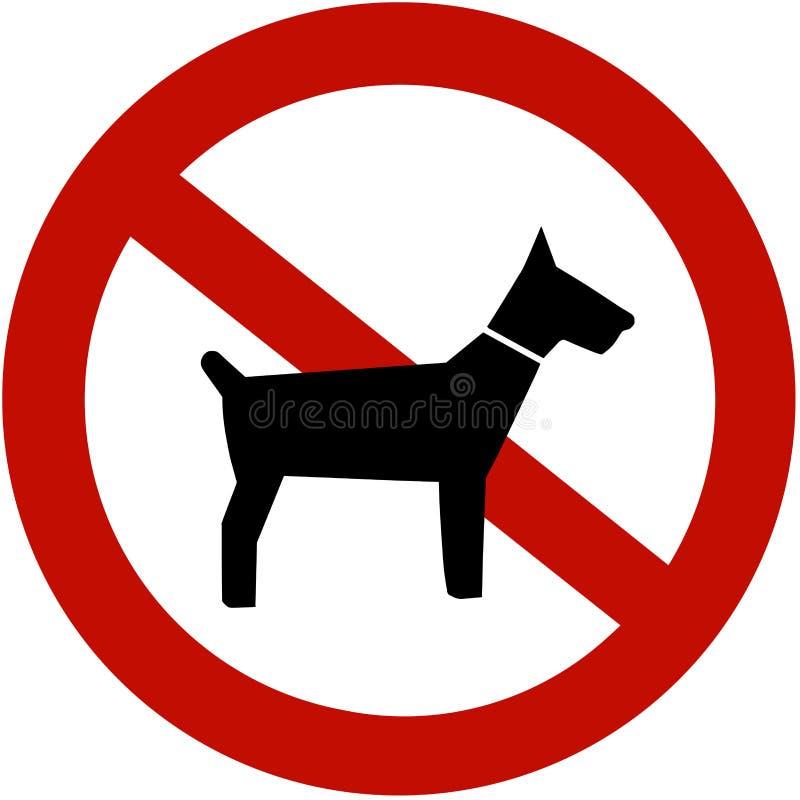 Nessun cani permessi illustrazione di stock