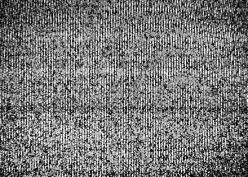 Nessun collegamento Elettricità statica autentica su uno schermo della TV con la conversione bianca e nera fotografia stock libera da diritti