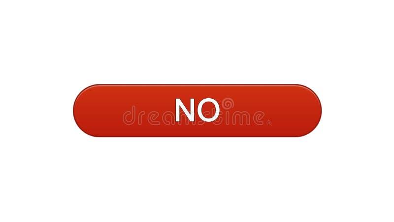 Nessun colore rosso del vino del bottone dell'interfaccia di web, modulo di iscrizione online, servizio di Internet royalty illustrazione gratis
