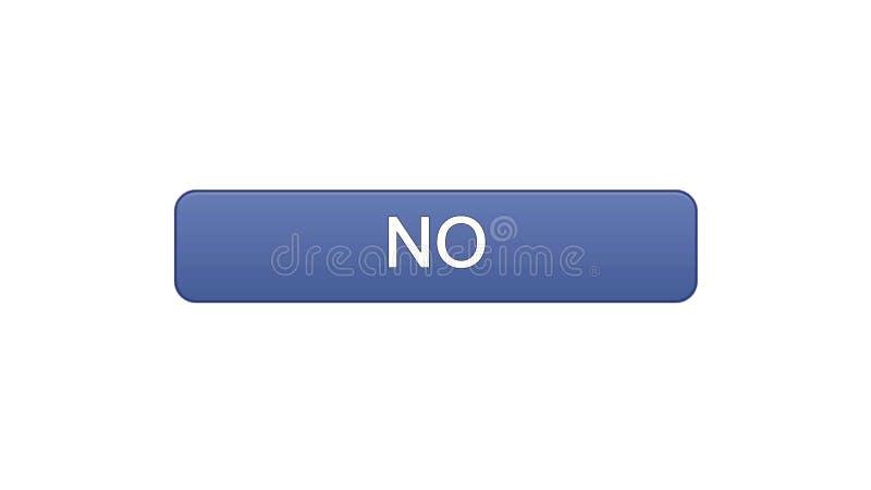 Nessun colore viola del bottone dell'interfaccia di web, modulo di iscrizione online, servizio di Internet illustrazione vettoriale
