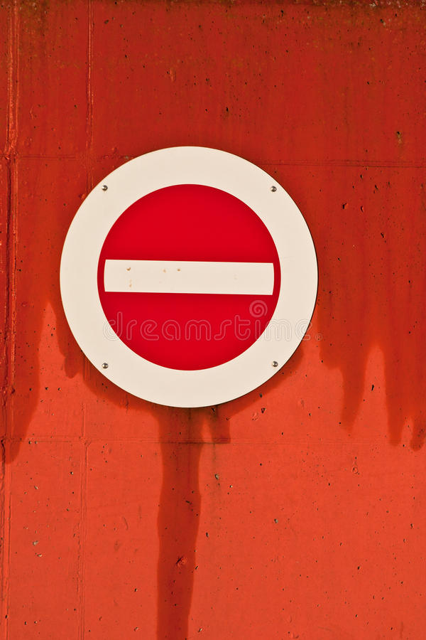 Nessun dell'entrata segnale dentro la Danimarca fotografie stock libere da diritti