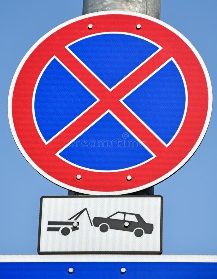 Nessun di condizione segnale stradale qui fotografia stock libera da diritti