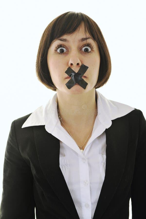 Nessun discorso immagini stock libere da diritti