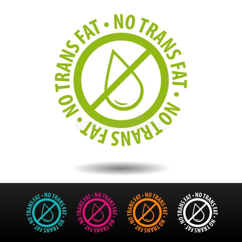 Nessun distintivo grasso del trasporto, logo, icona Illustrazione piana su fondo bianco Può essere la società usata di affari illustrazione vettoriale