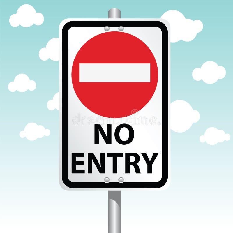 Nessun'entrata royalty illustrazione gratis