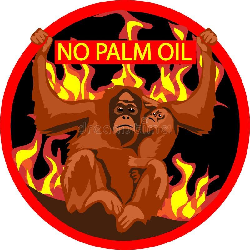 Nessun'etichetta dell'olio di palma illustrazione vettoriale