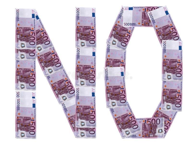 Nessun euro fotografia stock libera da diritti