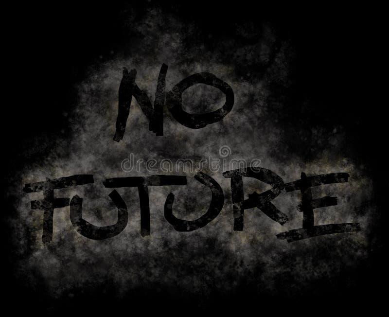 Nessun futuro royalty illustrazione gratis