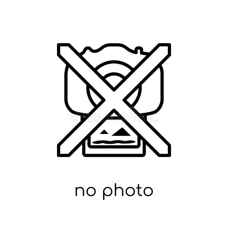 Nessun'icona del segno della foto dalla raccolta del museo illustrazione di stock