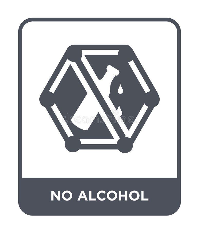 nessun'icona dell'alcool nello stile d'avanguardia di progettazione nessun'icona dell'alcool isolata su fondo bianco nessun'icona royalty illustrazione gratis