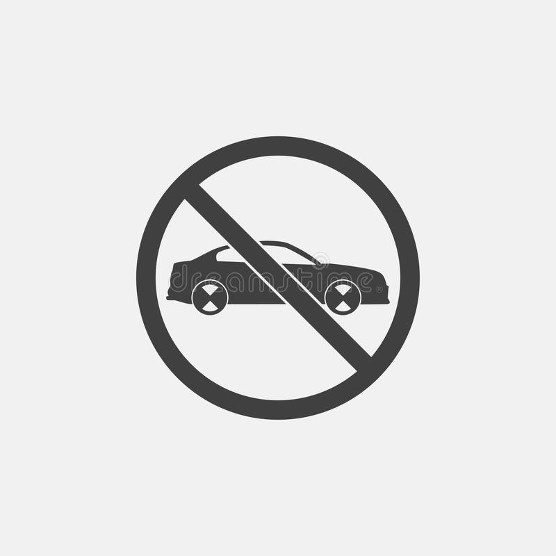 nessun'icona dell'automobile illustrazione vettoriale