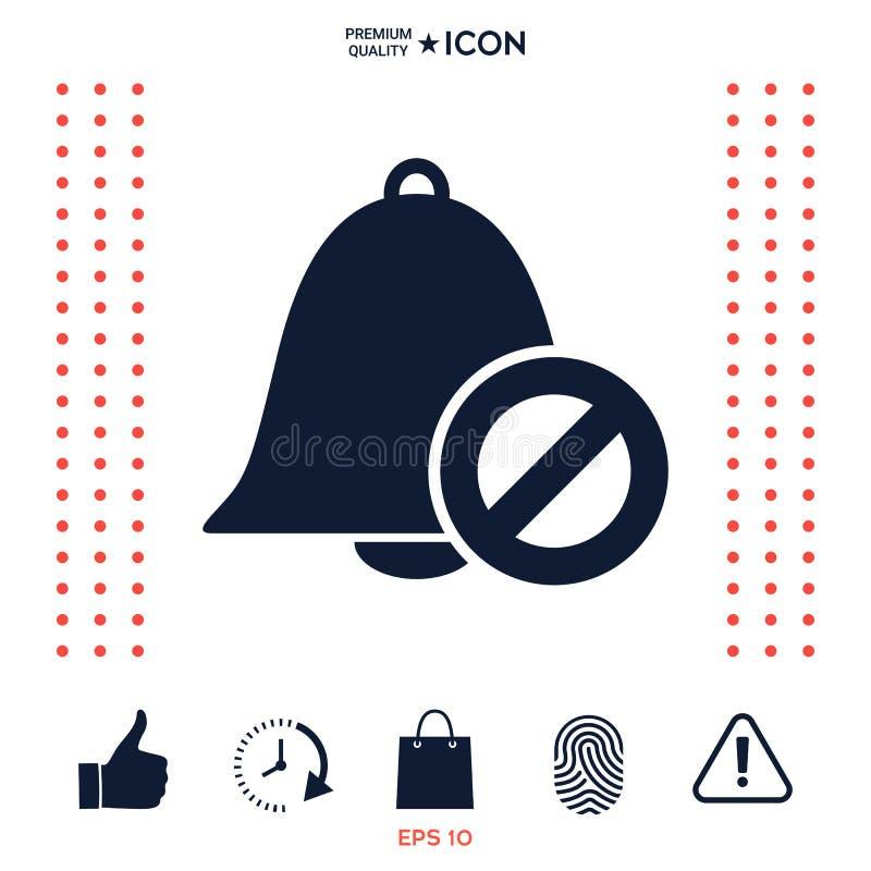 Download Nessun'icona Della Campana Segno Di Proibizione Arresti Il Simbolo Illustrazione Vettoriale - Illustrazione di anello, illustrazione: 117976093