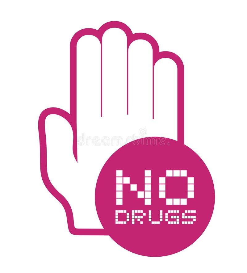 Nessun'icona delle droghe illustrazione vettoriale