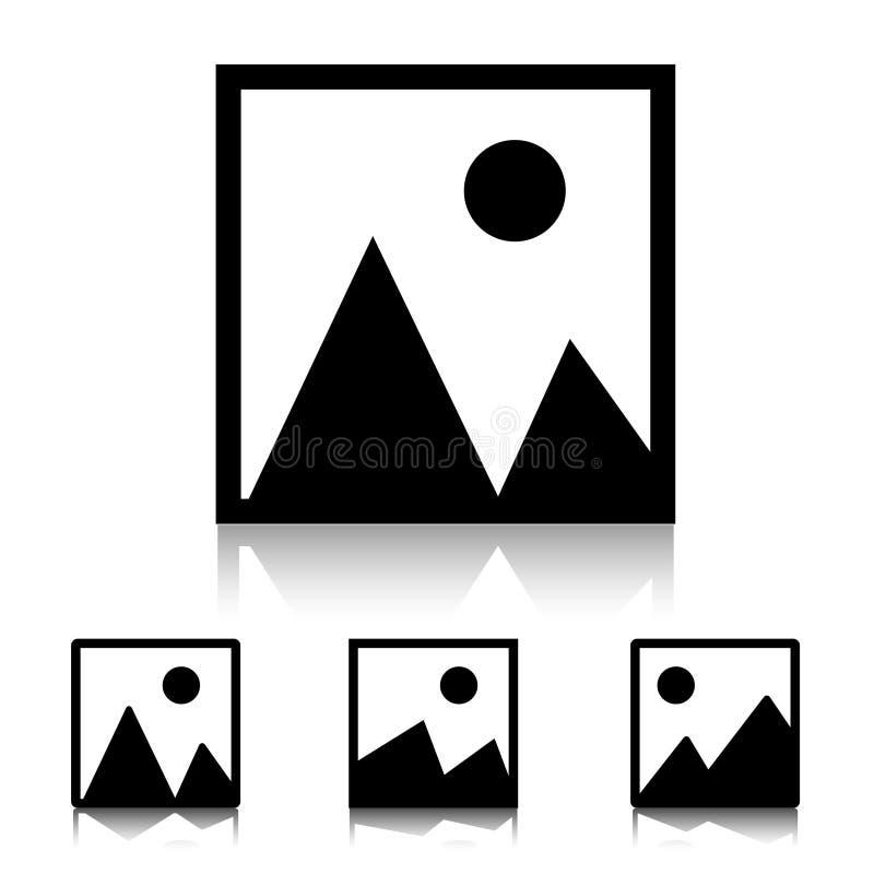 Nessun'icona di Acailable di immagine ha isolato sul fondo bianco dello specchio illustrazione di stock