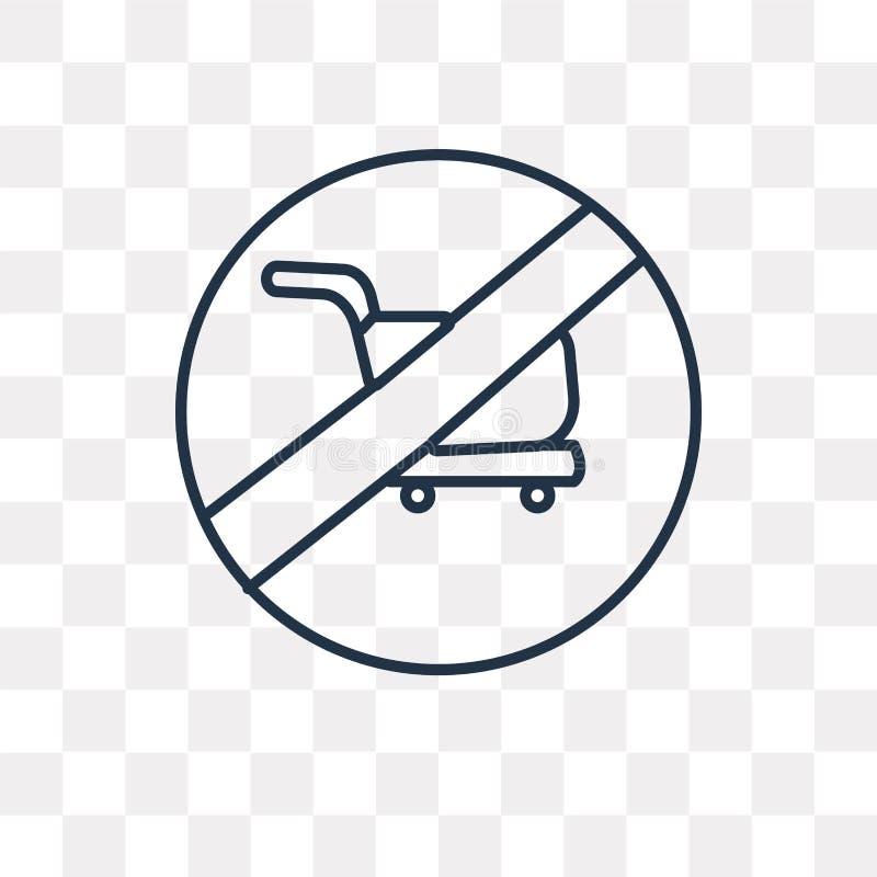 Nessun'icona di vettore del carrello isolata su fondo trasparente, royalty illustrazione gratis