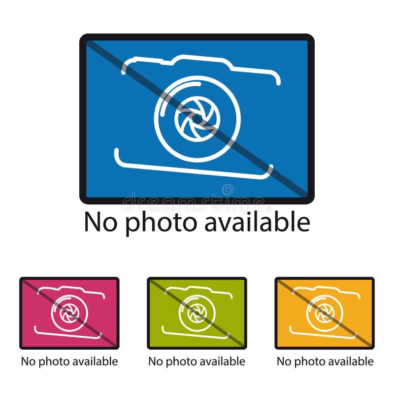Nessun'icona disponibile della foto - illustrazione variopinta di vettore - isolata su fondo bianco royalty illustrazione gratis