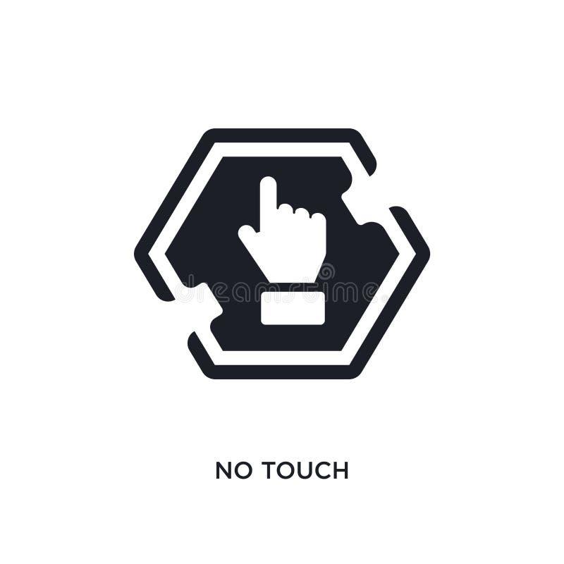 nessun'icona isolata tocco illustrazione semplice dell'elemento dalle icone di concetto dei segni nessuna progettazione editabile illustrazione vettoriale