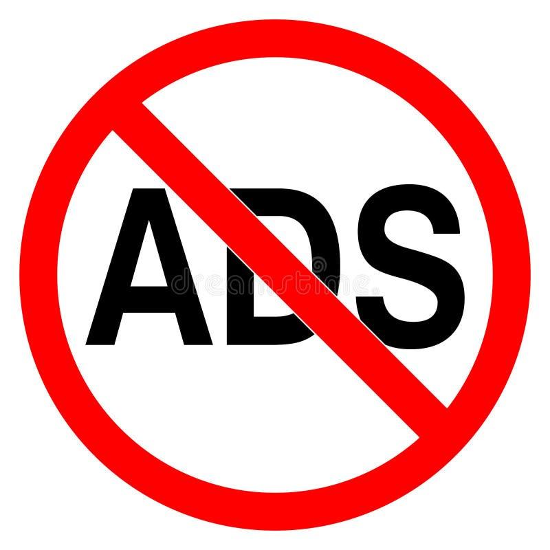 Nessun'illustrazione di vettore del segno severa strada di ADS illustrazione vettoriale