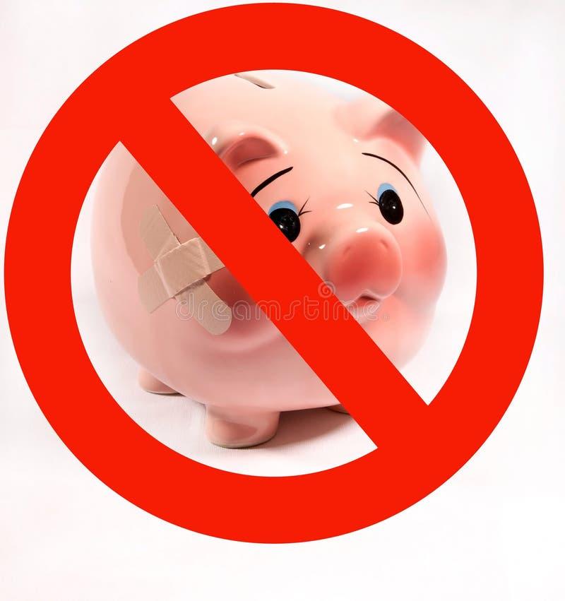 Nessun'influenza dei maiali immagini stock