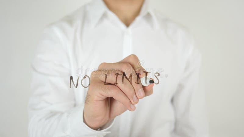 Nessun limiti, scritti su vetro fotografia stock libera da diritti
