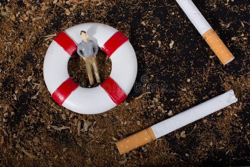 Nessun manifesto del giorno del tabacco per dice no il concetto di fumo immagine stock