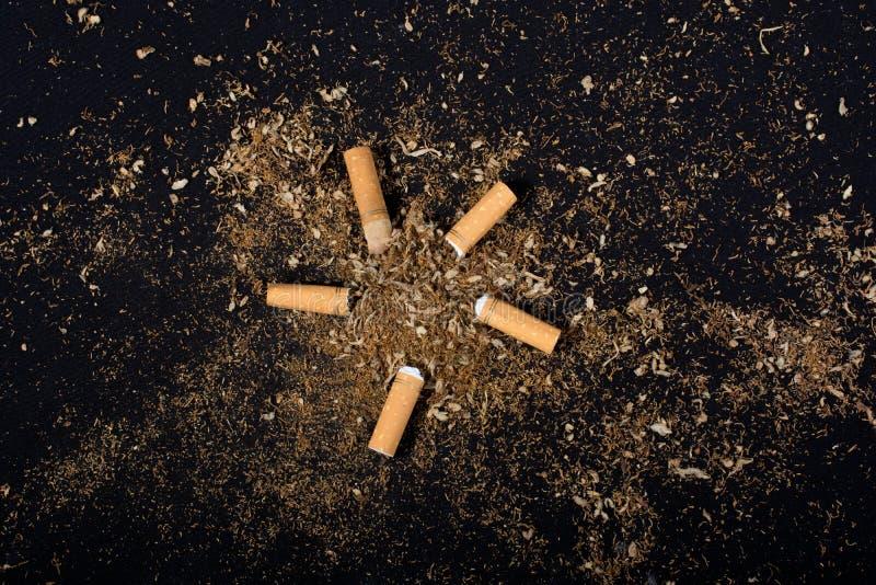 Nessun manifesto del giorno del tabacco per dice no il concetto di fumo immagini stock libere da diritti