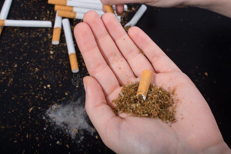 Nessun manifesto del giorno del tabacco per dice no il concetto di fumo fotografia stock libera da diritti