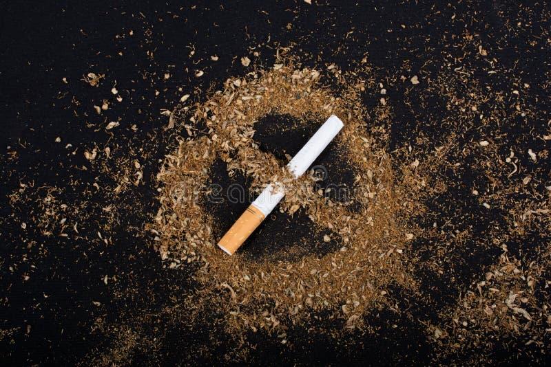 Nessun manifesto del giorno del tabacco per dice no il concetto di fumo fotografie stock