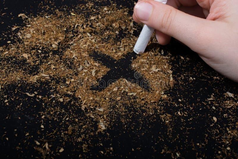 Nessun manifesto del giorno del tabacco per dice no il concetto di fumo fotografie stock libere da diritti