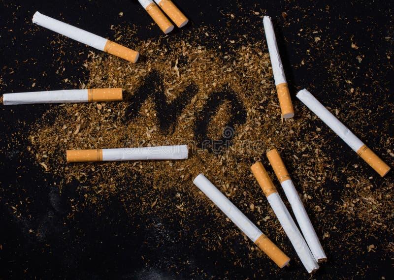 Nessun manifesto del giorno del tabacco per dice no il concetto di fumo immagini stock