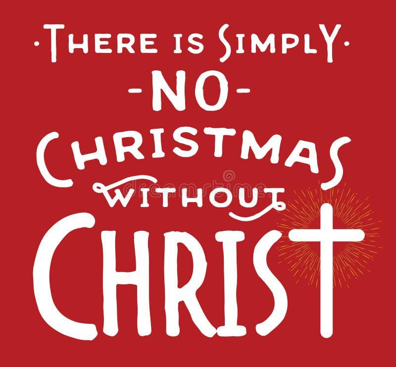 Nessun Natale senza Cristo illustrazione vettoriale