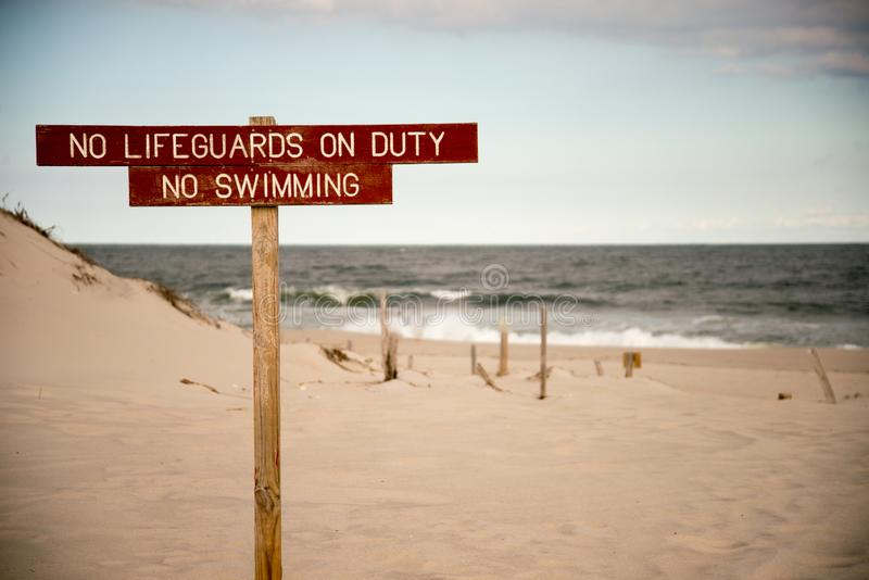Nessun nuoto fotografie stock